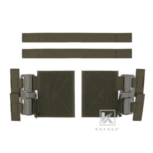 KRYDEX Tactical Quick Release Buckle Set for JPC CPC AVS NCPC Vest Ranger Green