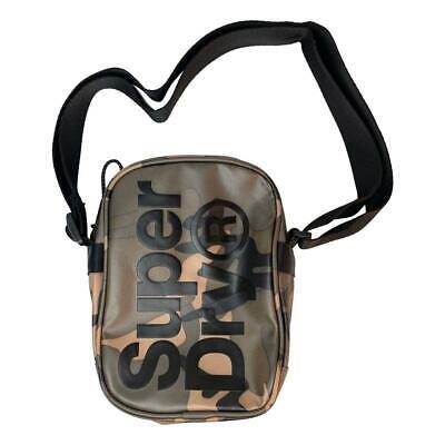 Superdry NEW Men's Side Bag - Green Camo Tarp BNWT