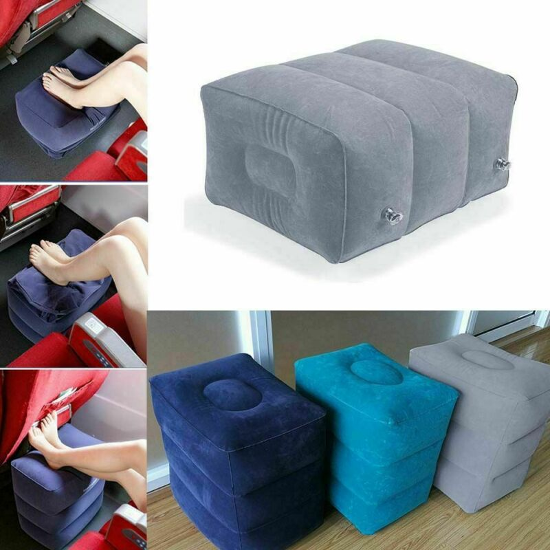 Inflatable Travel Footrest Leg Foot Rest Air Plane Pillow Pa