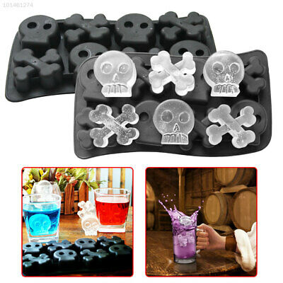 6462 Skull Whiskey Ice Ball Maker Ice Maker Mold Silicone Ice Ice Cube Trays Ice Ice Cube Trays