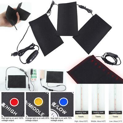 USB Electric Heating Pad Cloth Thermal Vest Heat Jacket Outdoor Warming Gear LJ
