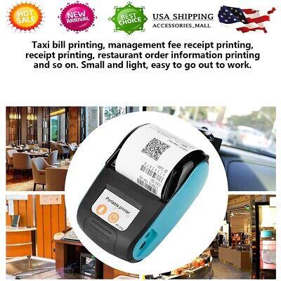 Usb 58mm Mini Wireless Bluetooth Thermal Receipt Bill Printer For Android Ios Us