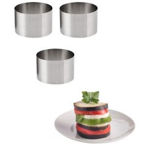 3pcs Rosti Roasti Rings Biscuit Food Cooking Presentation Mold Breakfast Set