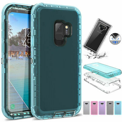 Clear 360° Phone Case Cover For Samsung Galaxy Note 9 8 S7 S8 S9 S10 SHOCKPROOF ()