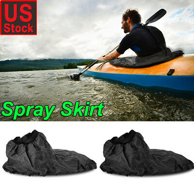 Adjustable Waterproof Nylon Kayak Spray Skirt Cover Water Sport Universal - Nylon Spray Skirt