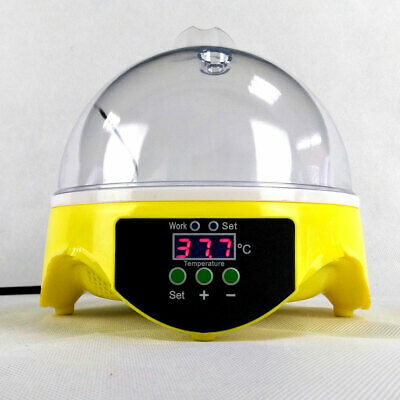 UK Egg Incubator Digital Turning 7 Eggs Chicken Quail Poultry Bird Hatcher Tool