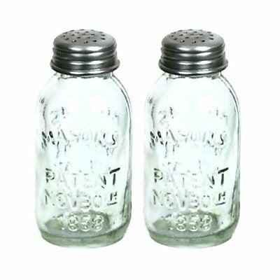 Mini Mason Jar SALT &  PEPPER SHAKER Set of 2 Country Kitchen Decor