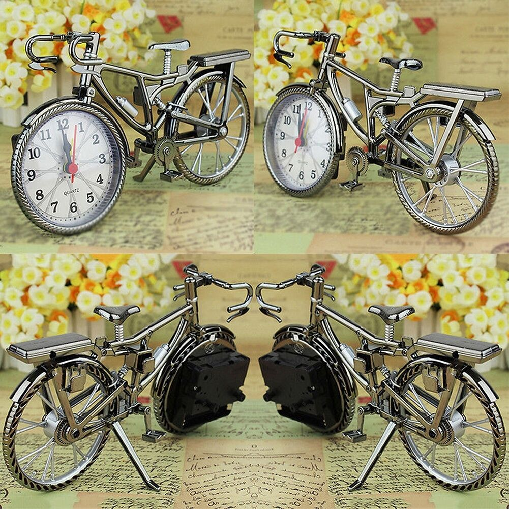 1x Fahrrad Mini Wecker Uhr Kreativität Tisch Ornament Wohndeko ...