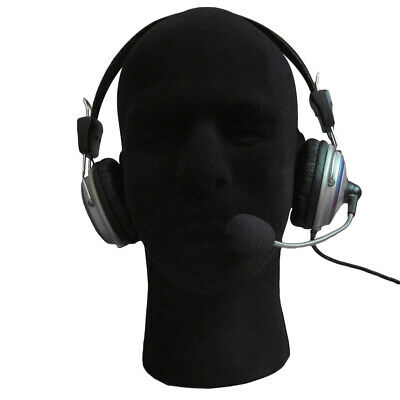 Black Male Styrofoam Foam Mannequin Manikin Head Model Wigs Glasses Hat Display