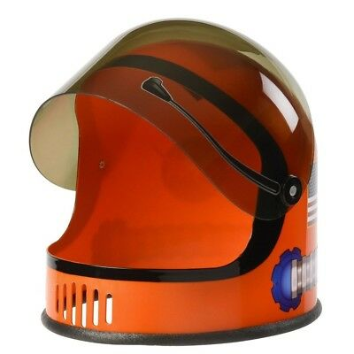 Orange NASA Child Astronaut Helmet Space USA Costume Gift Travel Youth Boys Kid