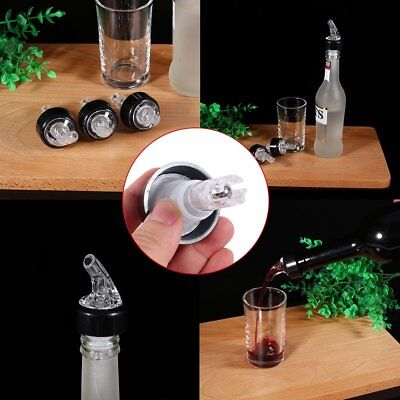 3pcs 35ml Automatic Measure Liquor Bottle Shot Stopper Pourer Whisky Dispenser