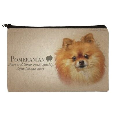 Pomeranian Dog Breed Makeup Cosmetic Bag Organizer Pouch