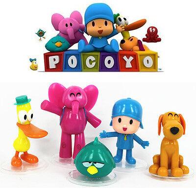 Lot 5 Pcs New Pocoyo Elly Pato Loula Sleepy Bird Loose Pvc Figures Toy Gift