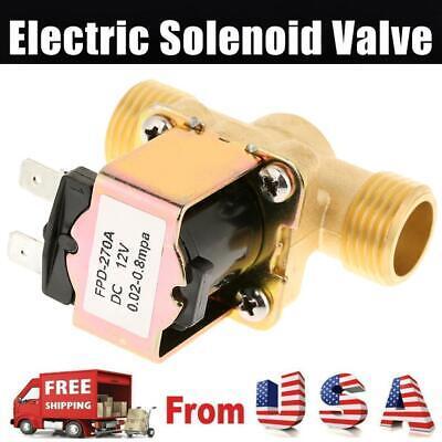 12 Brass Electric Solenoid Valve 12-volt Dc Water Steady Flow Adjustable 12v
