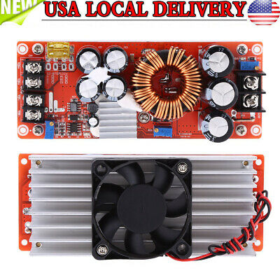 1500W 30A DC-DC Boost Converter Step-up Power Supply Module In 10~60V Out 12~90V
