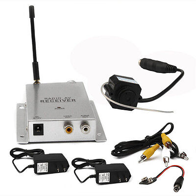 Mini Wireless Tv System Nanny Micro Camera Transmitter Re...