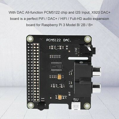 X920 Hifi Dac Audio Pcm5122 Expansion Board For Raspberry Pi 3 Model B2bb