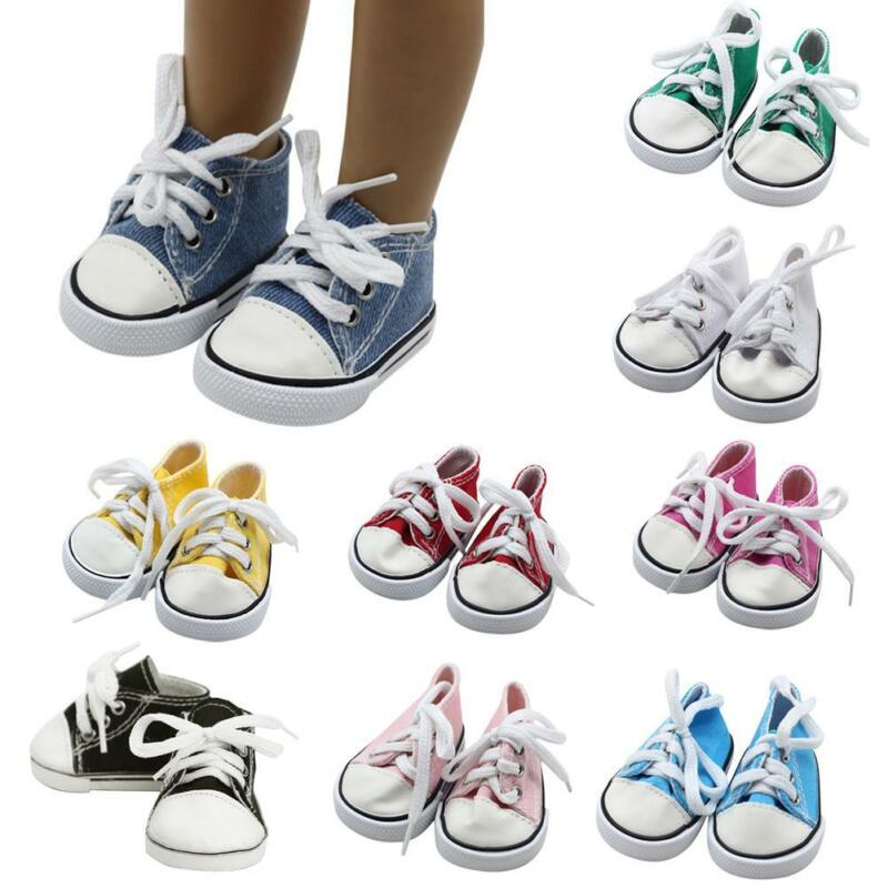 """Doll Clothes fits American Girl Hot 18"""" Canvas Sneakers Gym"""
