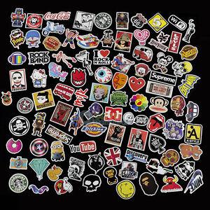 100 Skateboard Vinyl Sticker Skate Graffiti Laptop Luggage Guitar Car Bomb Decal
