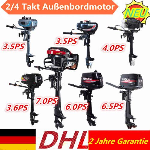 3,5-7 PS 2 //4-Takt Aussenborder Motor Benzinmotor Außenbordmotor Bootsmotor DE
