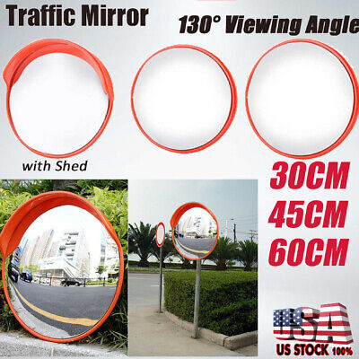 Convex Pc Traffic Mirror 121824 Acrylic Outdoor Safety Security Blind Spot Us