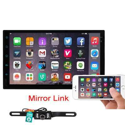 7'' Double 2Din Android 6.0 Car Stereo GPS Wifi 4G Mirror Link Radio BT CD DVD