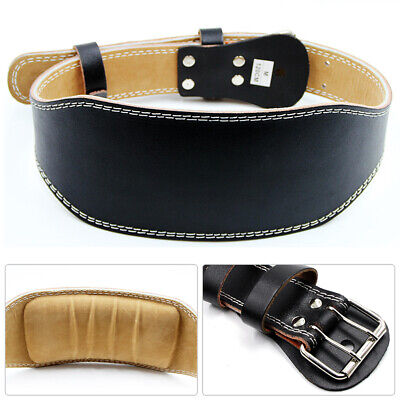 Cow Leather Weight Lifting Waist Support Belt Gym Fitness Lumbar Brace Strap Fun