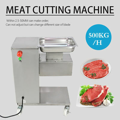 110v Meat Cutting Machine Meat Cutter Slicer 500kg Output With Two Blades New