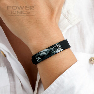 New-Power-Ionics-Sports-Bio-Ion-F-I-R-3D-Camo-Bracelet-Balance-Wristband-Energy
