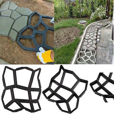 Best Driveway Paving Pavement Mold Patio Concrete Stepping Stone Walk Maker DIY