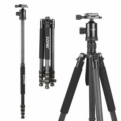 "Zomei 65"" Carbon Fiber Tripod Monopod & Ball Head For Canon Nikon DSLR Camera"