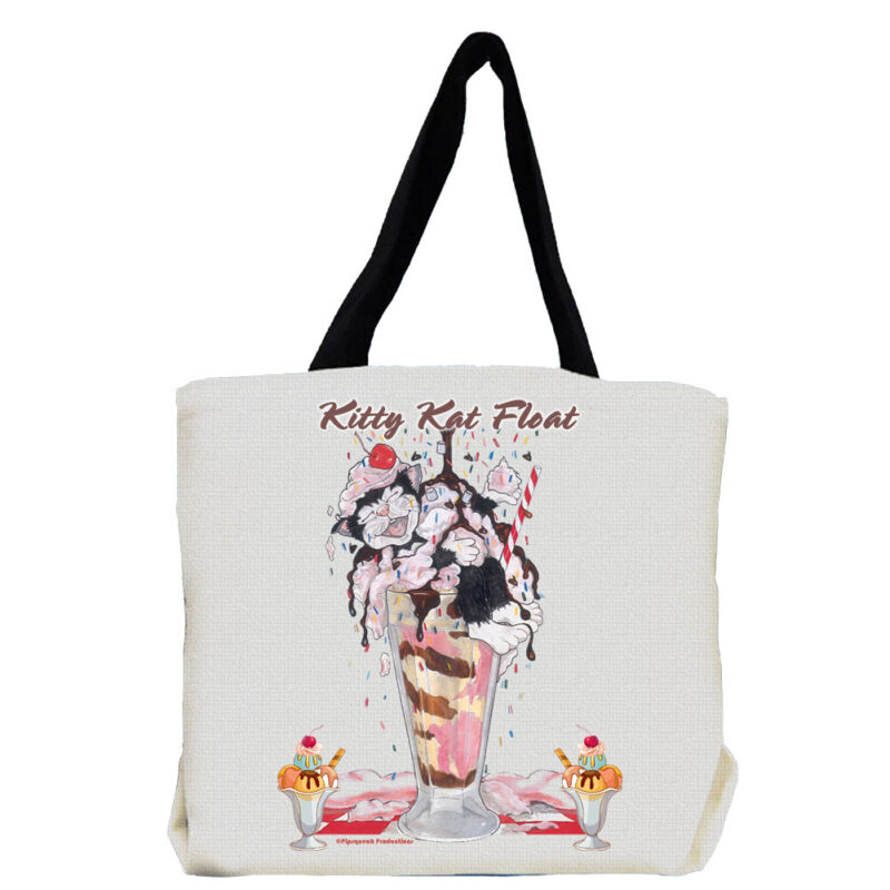Cat Black and White Cat Kitty Kat Float Tote Bag