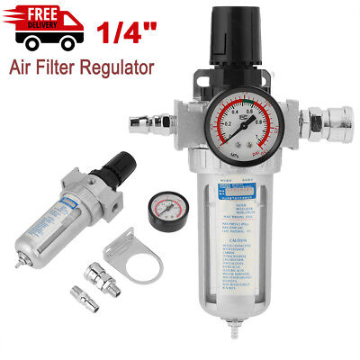 14 Air Compressor Filter Water Separator Trap Tools With Regulator Us Ship