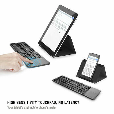 Portable Wireless Foldable Bluetooth Keyboard Touchpad For iOS Android Windows