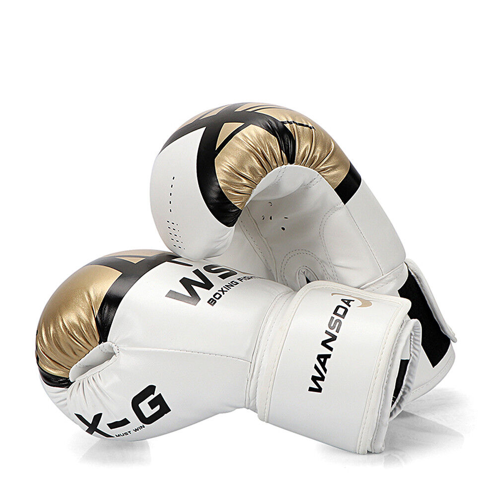 Shiv Naresh Teens Boxing Gloves 12oz: Leather Boxing Gloves Muay Thai Training Punching Bag