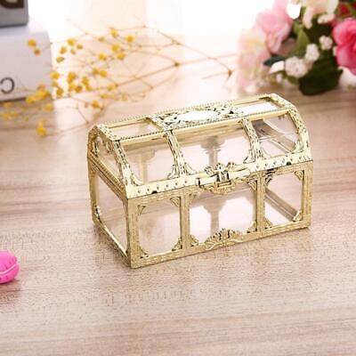 12Pcs Elegant Transparent Plastic Wedding Favors Candy Baby Shower Gift Box Wedding Elegant Gift Box