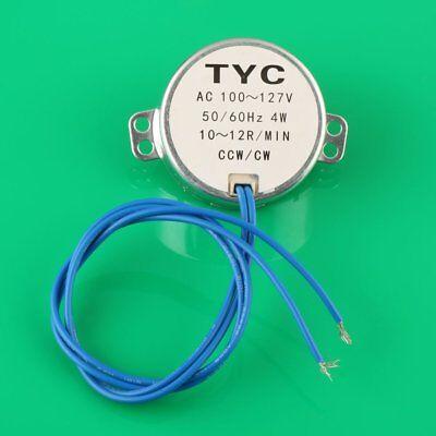 Robust Small Synchronous Synchron Motor Ac 110v 5060hz 4w 1012rpm Ccwcw J96g