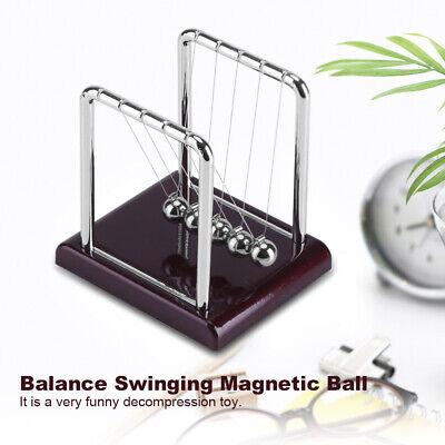 Newtons Cradle Balance Steel Ball Physics Science Pendulum Nice Desk Decor Us