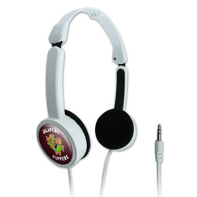 Jalapeno Puppers Dog Poppers Funny Portable Foldable On-Ear Headphones