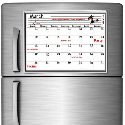 Magnetic Dry Erase Board (16 x 12 Monthly Magnetic Refrigerator Calendar White Dry Erase Board)