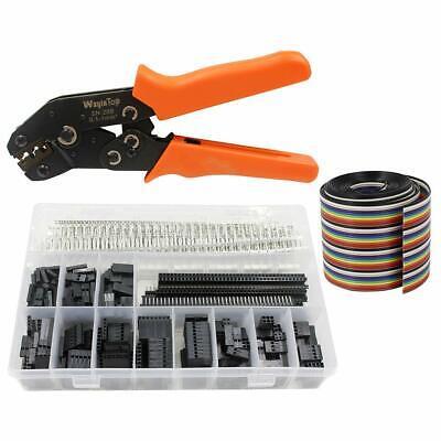 Dupont Connector Crimping Tool Kit Crimper Plier 2.54mm Header Male Female Pins