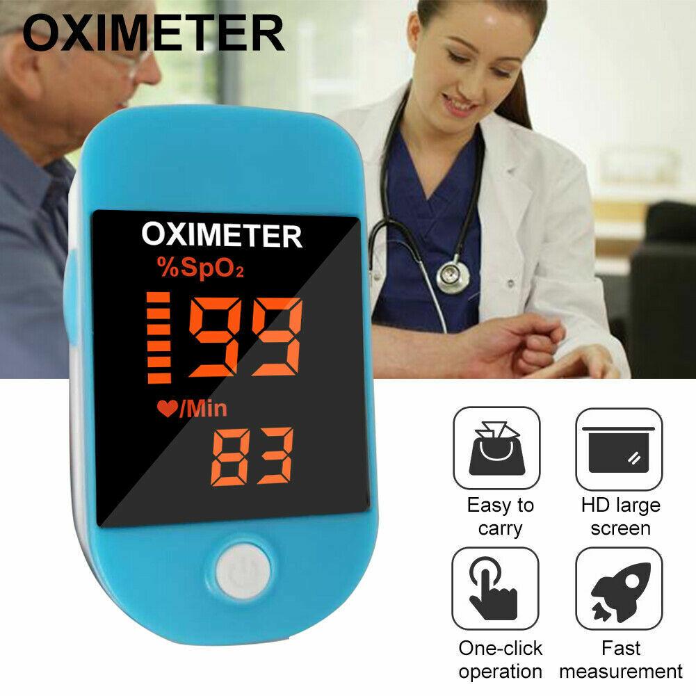 Pulse Oximeter Meter Oxygen Blood Spo2 Rate Finger Heart Mon