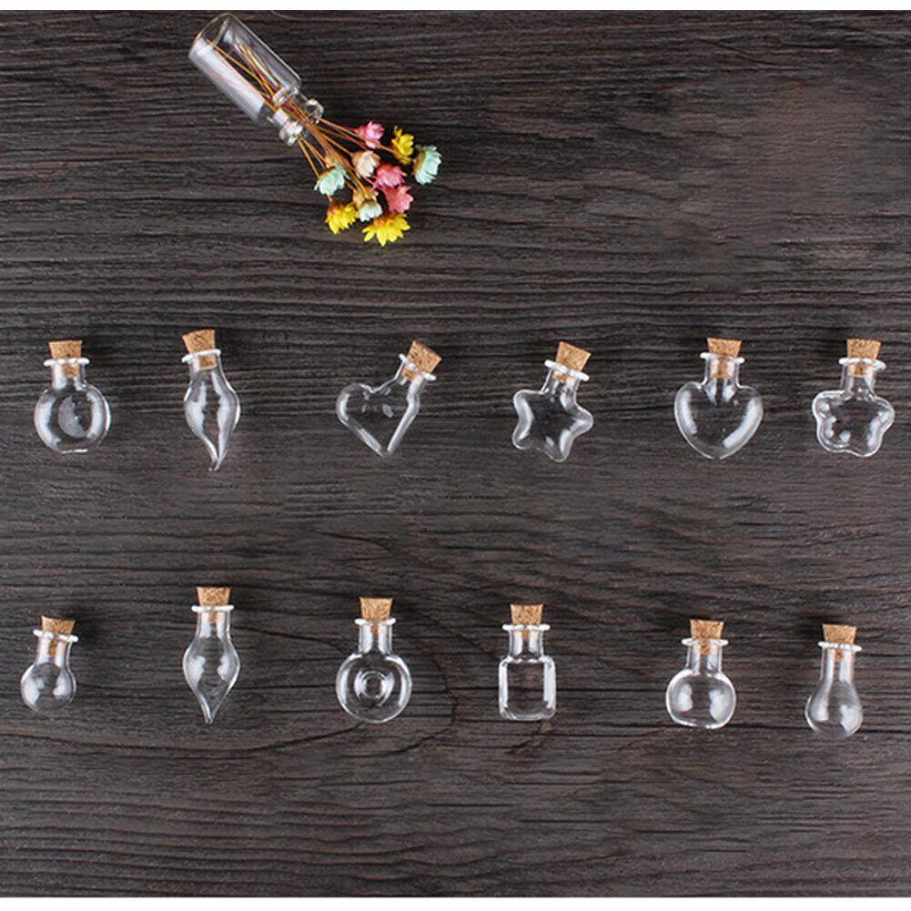 6pcs Glass Favor Jars with Cork Lids Stopper Small Empty Gla