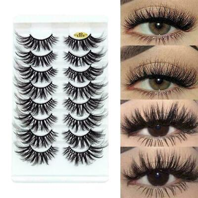 8 Pairs 25MM 4D Faux Mink Hair False Eyelashes Full Volume Lashes Fluffy Eye