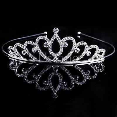 Rhinestone Kid Girl Crystal Tiara Hair Band Bridal Princess Prom Crown - Child Tiara