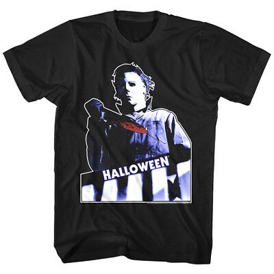 Halloween Horror Movie Michael Myers Bloody Knife Mens T Shirt Film Series - Halloween Horror Filme