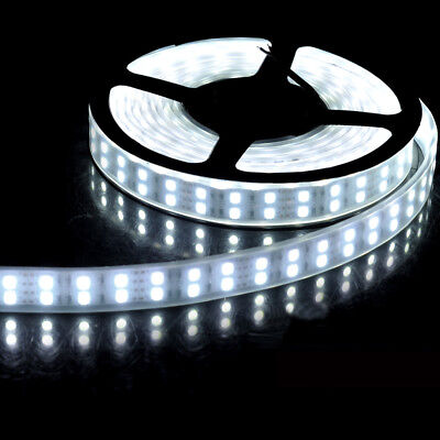 (5M Double Row 5050 Pure White 600LEDS Fles LED strip light DC12V IP68 waterproof)