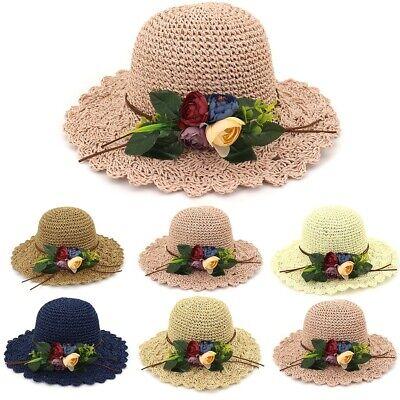 Damenhüte Blume Elegant Breite Krempe Sommerhut Strand Sonnenhut Mode Kappenhut  Elegante Mode Hut