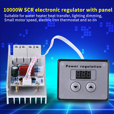 10000w Scr Digital Voltage Regulator Speed Control Dimmer Thermostat Ac 220v 80a