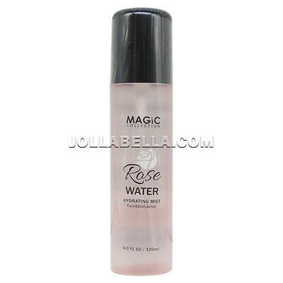 Magic Collection Rose Water Hydrating Mist Spray for Face Body Hair Moisture -
